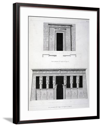 A Doorway and Gantry at the Temple of Tentyris, 19th Century-Vivant Denon-Framed Art Print
