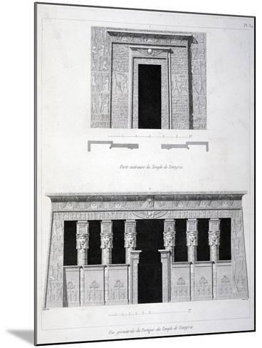 A Doorway and Gantry at the Temple of Tentyris, 19th Century-Vivant Denon-Mounted Giclee Print