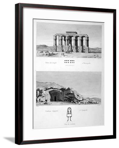 Temple of Hermopolis and Egyptian Tombs of Lycopolis, 1802-Vivant Denon-Framed Art Print