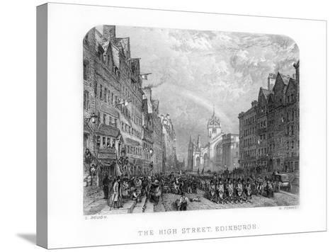 The High Street, Edinburgh, 1870-W Forrest-Stretched Canvas Print