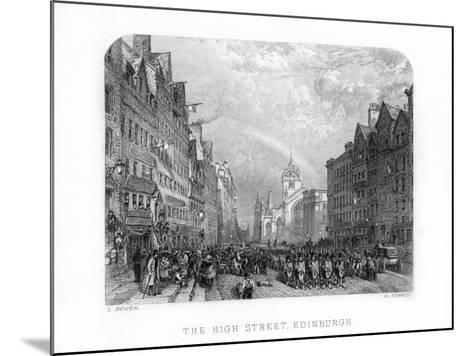 The High Street, Edinburgh, 1870-W Forrest-Mounted Giclee Print