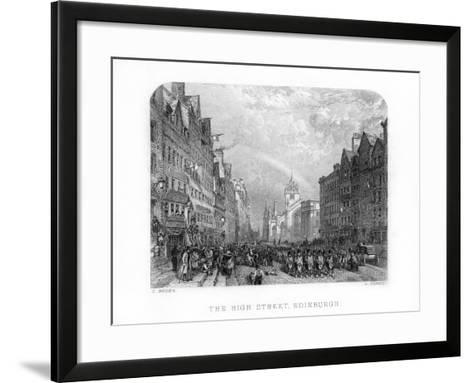 The High Street, Edinburgh, 1870-W Forrest-Framed Art Print