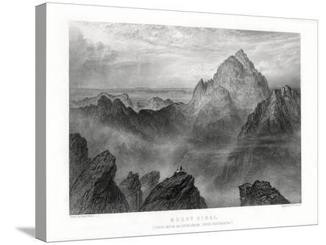 Mount Sinai: Jebel Musa as Seen from Jebel Katharina, 1887-W Forrest-Stretched Canvas Print