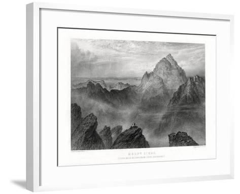 Mount Sinai: Jebel Musa as Seen from Jebel Katharina, 1887-W Forrest-Framed Art Print