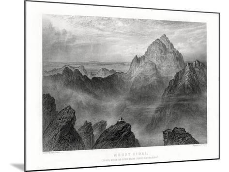 Mount Sinai: Jebel Musa as Seen from Jebel Katharina, 1887-W Forrest-Mounted Giclee Print