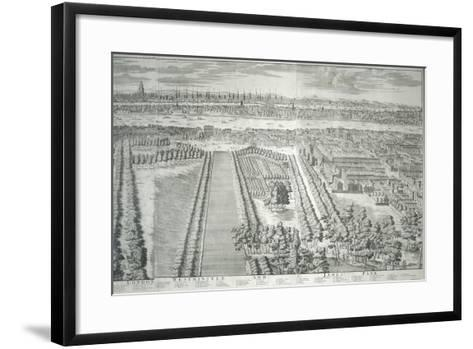 Panoramic View of the City of London and Westminster Showing St James's Park, 1730--Framed Art Print