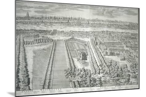 Panoramic View of the City of London and Westminster Showing St James's Park, 1730--Mounted Giclee Print