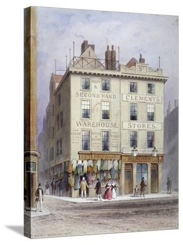 Clement's Stores at the Junction of Holywell Street and Wych Street, Westminster, London, 1855-Thomas Hosmer Shepherd-Stretched Canvas Print