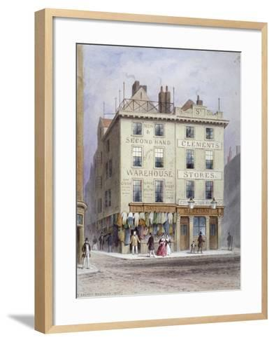 Clement's Stores at the Junction of Holywell Street and Wych Street, Westminster, London, 1855-Thomas Hosmer Shepherd-Framed Art Print