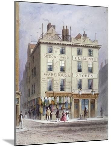 Clement's Stores at the Junction of Holywell Street and Wych Street, Westminster, London, 1855-Thomas Hosmer Shepherd-Mounted Giclee Print