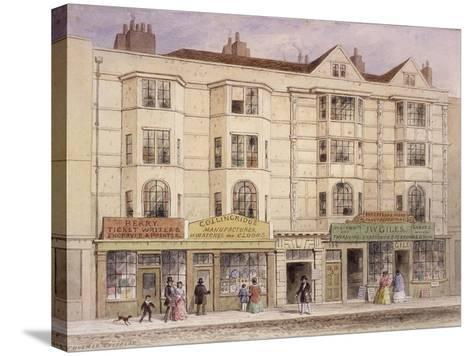 Aldersgate Street, London, 1851-Thomas Hosmer Shepherd-Stretched Canvas Print