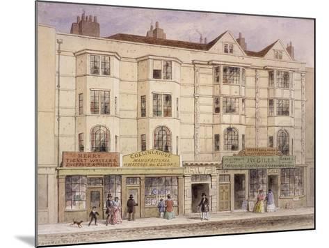 Aldersgate Street, London, 1851-Thomas Hosmer Shepherd-Mounted Giclee Print