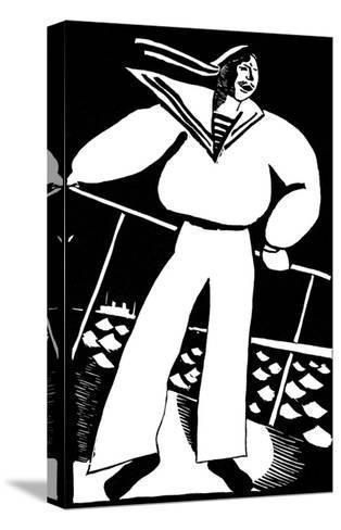 Seaman, 1919-Vladimir Ivanovich Kozlinsky-Stretched Canvas Print