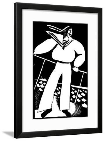 Seaman, 1919-Vladimir Ivanovich Kozlinsky-Framed Art Print