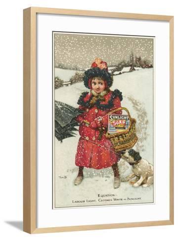 Trade Card for Sunlight Soap, C1900-Tom Browne-Framed Art Print
