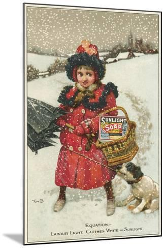 Trade Card for Sunlight Soap, C1900-Tom Browne-Mounted Giclee Print