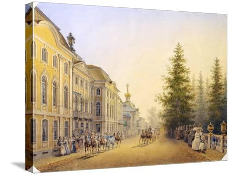 The Main Entrance of the Great Palace in the Peterhof, 1852-Vasilij Semenovic Sadovnikov-Stretched Canvas Print