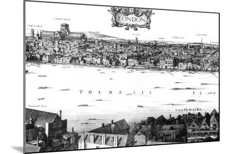 View of London and the Thames from South Bank, 17th Century-William Griggs-Mounted Giclee Print