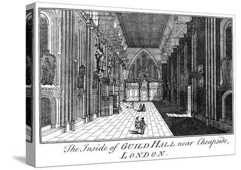 The Inside of Guild Hall Near Cheapside, London, C18th Century-William Griggs-Stretched Canvas Print