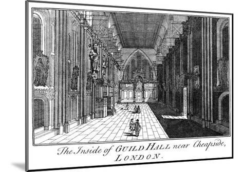 The Inside of Guild Hall Near Cheapside, London, C18th Century-William Griggs-Mounted Giclee Print