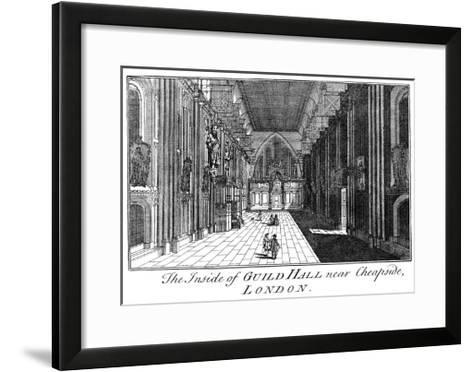 The Inside of Guild Hall Near Cheapside, London, C18th Century-William Griggs-Framed Art Print