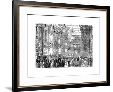 Procession of Her Majesty to the State Ball in the Guildhall, City of London, July 1851-William Griggs-Framed Art Print