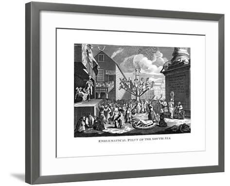 South Sea Bubble, 1721-William Hogarth-Framed Art Print