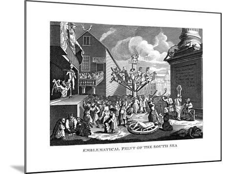 South Sea Bubble, 1721-William Hogarth-Mounted Giclee Print