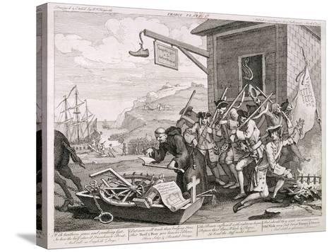 France, 1755-William Hogarth-Stretched Canvas Print