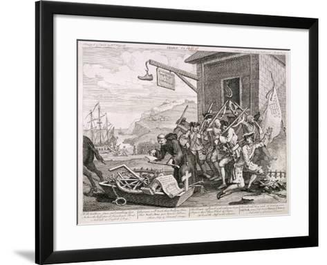 France, 1755-William Hogarth-Framed Art Print