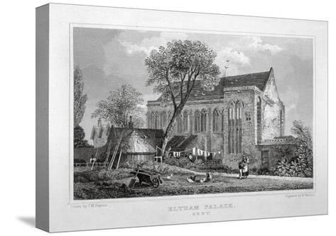 Great Hall of Eltham Palace, Kent, C1830-W Watkins-Stretched Canvas Print