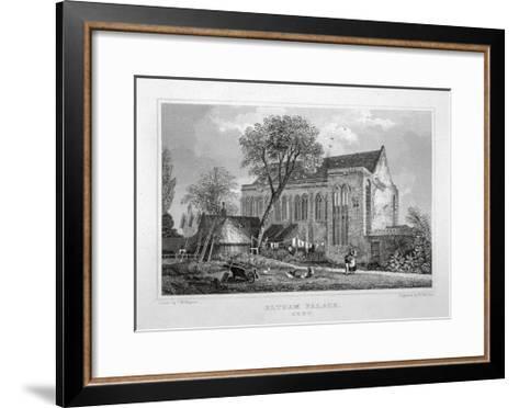 Great Hall of Eltham Palace, Kent, C1830-W Watkins-Framed Art Print