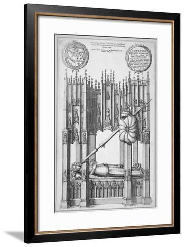 Monument of John of Gaunt and Constance of Castile, Old St Paul's Cathedral, City of London, 1656-Wenceslaus Hollar-Framed Art Print