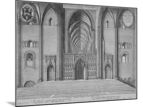 Interior View of the Choir of the Old St Paul's Cathedral from the West, City of London, 1656-Wenceslaus Hollar-Mounted Giclee Print