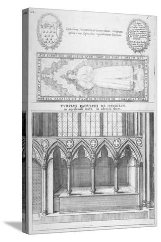 Tomb of Sir Ralph De Hengham in Old St Paul's Cathedral, City of London, 1656-Wenceslaus Hollar-Stretched Canvas Print