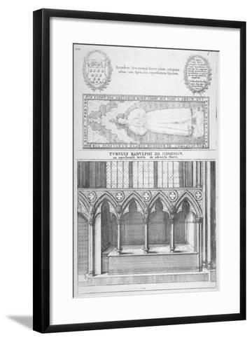 Tomb of Sir Ralph De Hengham in Old St Paul's Cathedral, City of London, 1656-Wenceslaus Hollar-Framed Art Print