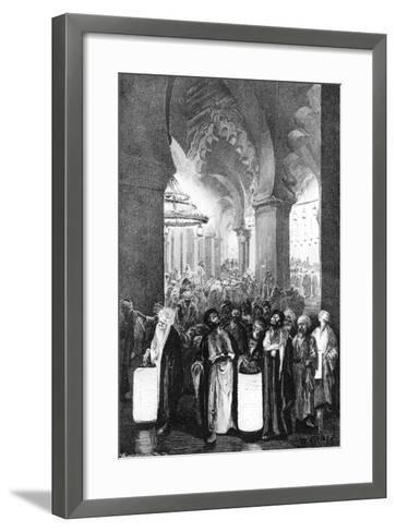 The Prayer During One Night of Ramadan, 1881-Wilhelm Gentz-Framed Art Print