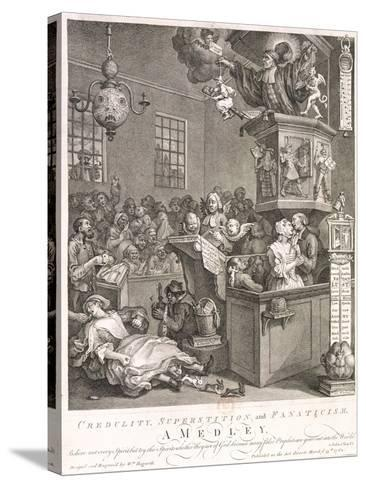 Credulity, Superstition and Fanaticism. a Medley, 1762-William Hogarth-Stretched Canvas Print