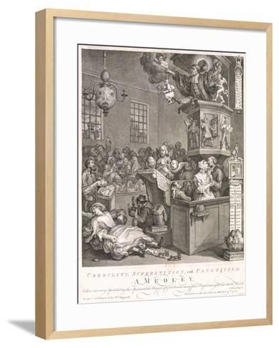 Credulity, Superstition and Fanaticism. a Medley, 1762-William Hogarth-Framed Art Print
