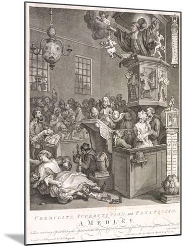 Credulity, Superstition and Fanaticism. a Medley, 1762-William Hogarth-Mounted Giclee Print