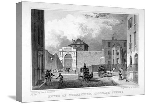 Cold Bath Fields Prison, Finsbury, London, 1830-W Watkins-Stretched Canvas Print