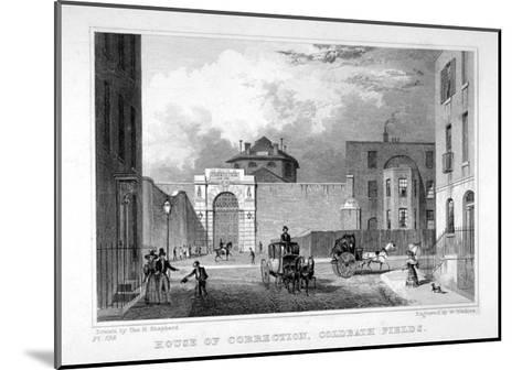 Cold Bath Fields Prison, Finsbury, London, 1830-W Watkins-Mounted Giclee Print