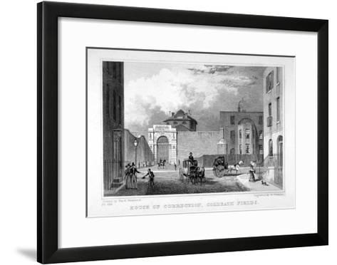 Cold Bath Fields Prison, Finsbury, London, 1830-W Watkins-Framed Art Print