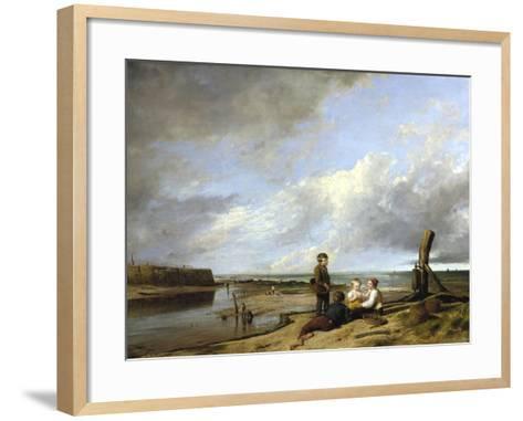 Shrimp Boys at Cromer, 1815-William Collins-Framed Art Print