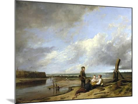 Shrimp Boys at Cromer, 1815-William Collins-Mounted Giclee Print