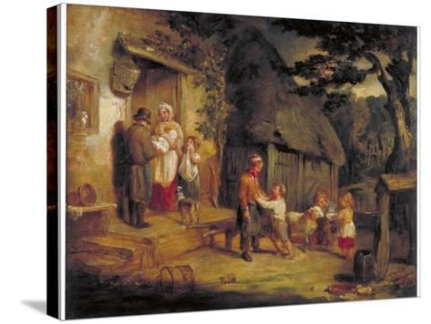 The Pet Lamb, C1813-William Collins-Stretched Canvas Print