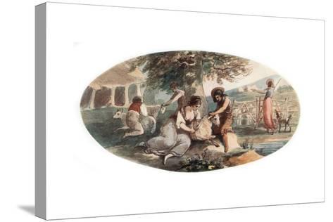 Sheep Shearing-William Hamilton-Stretched Canvas Print