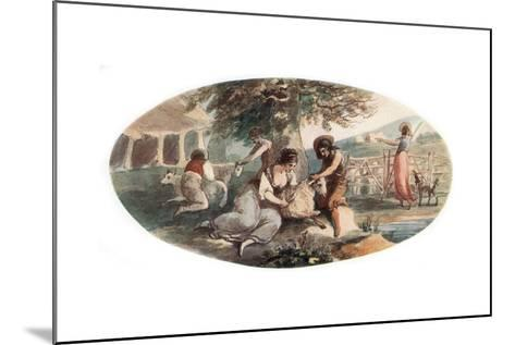 Sheep Shearing-William Hamilton-Mounted Giclee Print