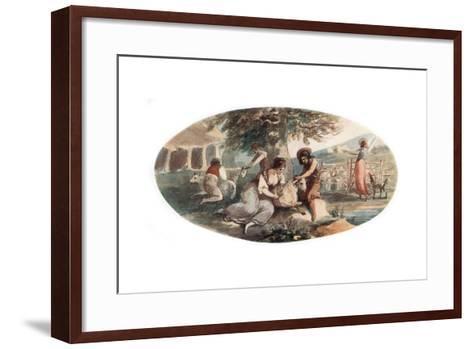 Sheep Shearing-William Hamilton-Framed Art Print