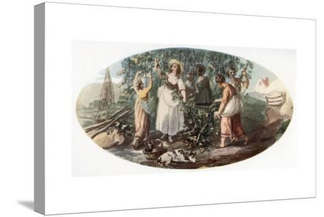 Hop Picking-William Hamilton-Stretched Canvas Print